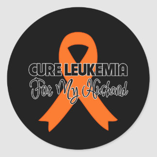 Cure Leukemia For My Husband Round Stickers