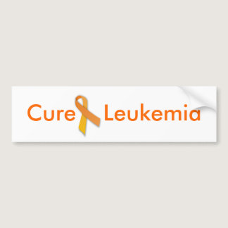 Cure Leukemia Orange Ribbon Bumper Sticker