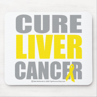 Cure Liver Cancer Mouse Pad