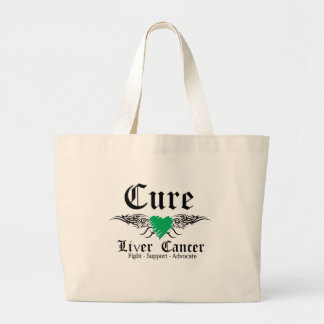 Cure Liver Cancer Tattoo Wings Tote Bags