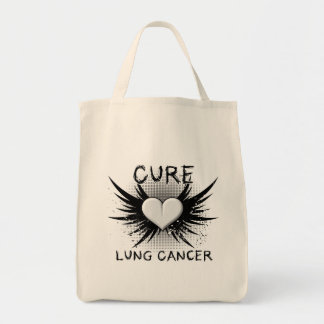 Cure Lung Cancer Canvas Bags