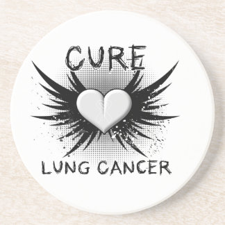 Cure Lung Cancer Drink Coaster