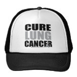 Cure Lung Cancer Mesh Hats