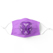 Cure Lupus Purple Ribbon & Butterfly Face Mask
