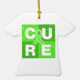CURE Lyme Disease Distressed Cube Ornament