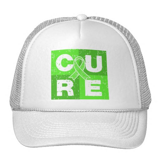 CURE Lymphoma Distressed Cube Trucker Hat