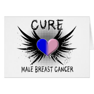 Cure Male Breast Cancer Greeting Card