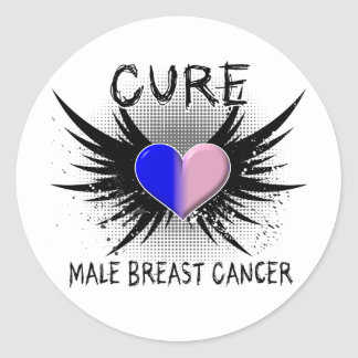 Cure Male Breast Cancer Classic Round Sticker