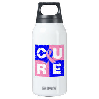 CURE Male Breast Cancer Distressed Cube SIGG Thermo 0.3L Insulated Bottle