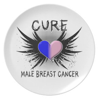 Cure Male Breast Cancer Dinner Plate