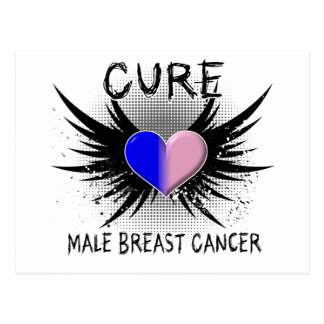 Cure Male Breast Cancer Postcard