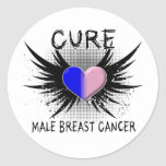 Cure Male Breast Cancer Stickers