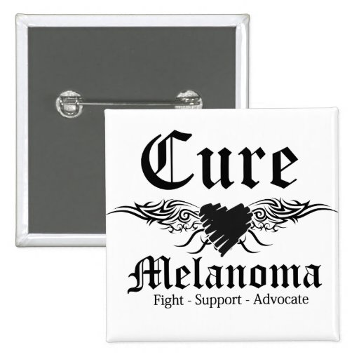 Cure Melanoma Tattoo Wings Pinback Buttons