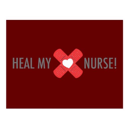 Cure mi postal de la enfermera del corazón