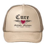 Cure Multiple Myeloma Tattoo Wings Hat
