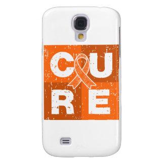 CURE Multiple Sclerosis Distressed Cube Samsung Galaxy S4 Covers