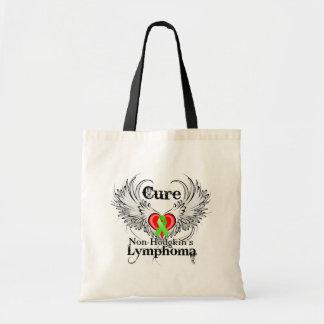 Cure Non-Hodgkins Lymphoma Heart Tattoo Wings Tote Bags