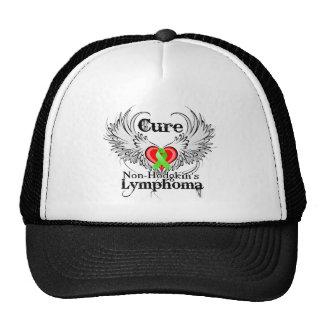 Cure Non-Hodgkins Lymphoma Heart Tattoo Wings Hats