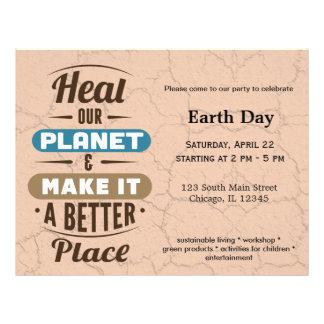 Cure nuestro planeta tarjetas publicitarias