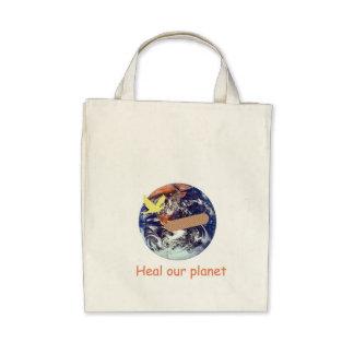 Cure nuestro tote orgánico del planeta bolsas