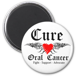 Cure Oral Cancer Tattoo Wings Magnet