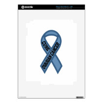 Cure Ovarian Cancer Decals For The iPad 2