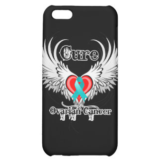 Cure Ovarian Cancer Heart Too Wings iPhone 5C Covers