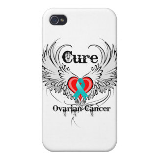 Cure Ovarian Cancer Heart Too Wings Covers For iPhone 4