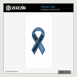 Cure Ovarian Cancer iPhone 4S Decals