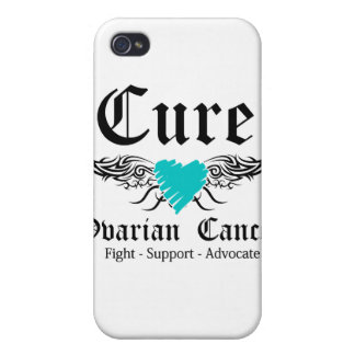 Cure Ovarian CancerToo Wings iPhone 4/4S Case