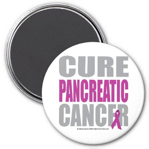 Cure Pancreatic Cancer 3 Inch Round Magnet