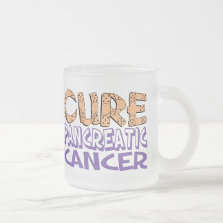 Cure Pancreatic Cancer Frosted Glass Coffee Mug