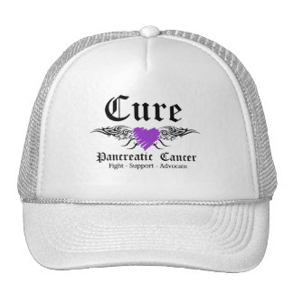 Cure Pancreatic CancerTattoo Wings Hat