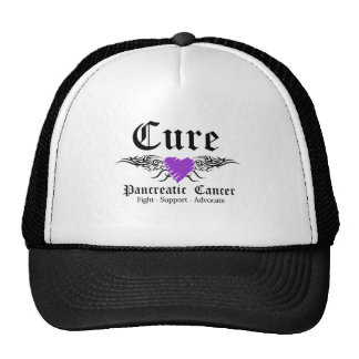 Cure Pancreatic CancerTattoo Wings Hats