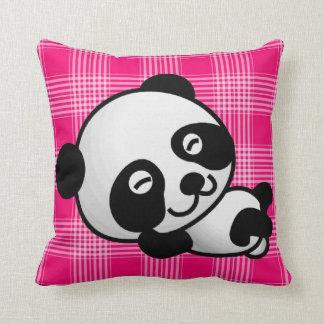 Cure panda bear resting throw pillow