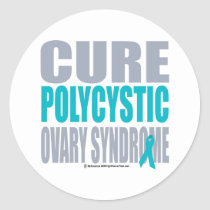 Cure PCOS Classic Round Sticker