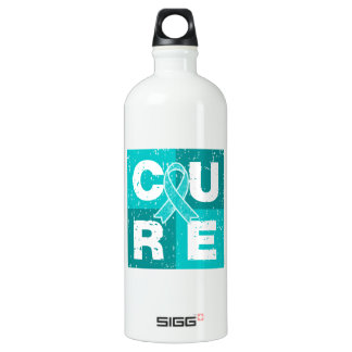 CURE Peritoneal Cancer Distressed Cube SIGG Traveler 1.0L Water Bottle