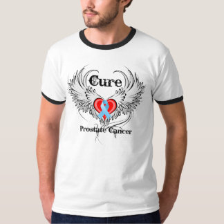 Cure Prostate Cancer Heart Tattoo Wings T-Shirt