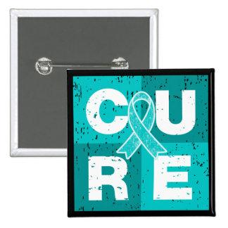 CURE PTSD Cube 2 Inch Square Button