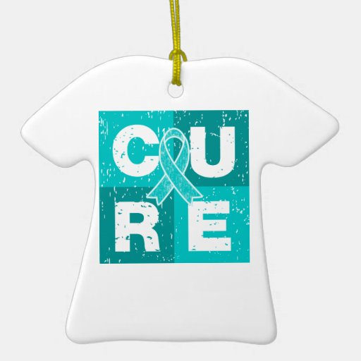 CURE PTSD Cube Double-Sided T-Shirt Ceramic Christmas Ornament