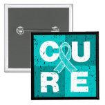 CURE PTSD Cube Pinback Button