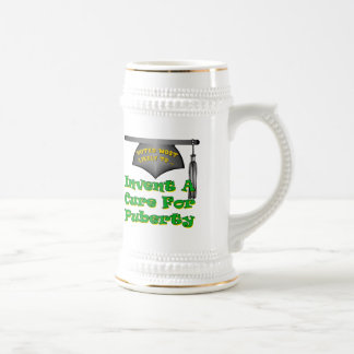Cure Puberty Beer Stein