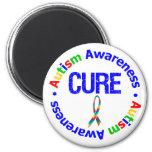 Cure Puzzle Ribbon AUTISM Fridge Magnet