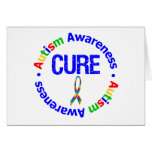 Cure Puzzle Ribbon AUTISM Greeting Card