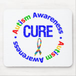 Cure Puzzle Ribbon AUTISM Mousepad