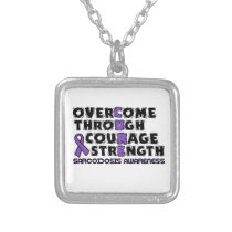 CURE...Sarcoidosis Silver Plated Necklace