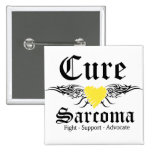 Cure Sarcoma CancerTattoo Wings Buttons