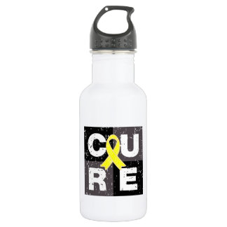 CURE Sarcoma Distressed Cube 18oz Water Bottle