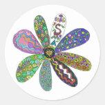 Cure SMA Flower Power Classic Round Sticker