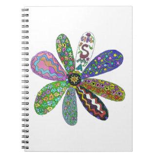 Cure SMA Flower Power Spiral Notebook